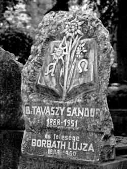 Szervátiusz Jenő: Tavaszy Sándor és Borbáth Lujza síremléke.